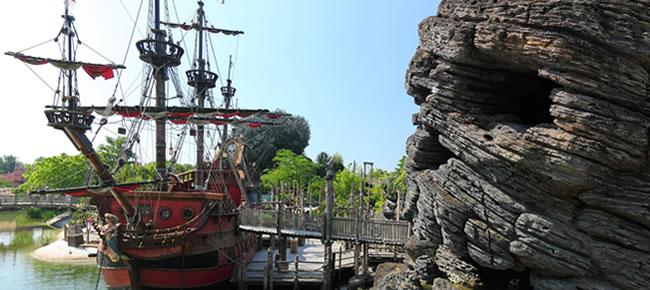 Der Themenpark Adventureland im Disyneyland Paris