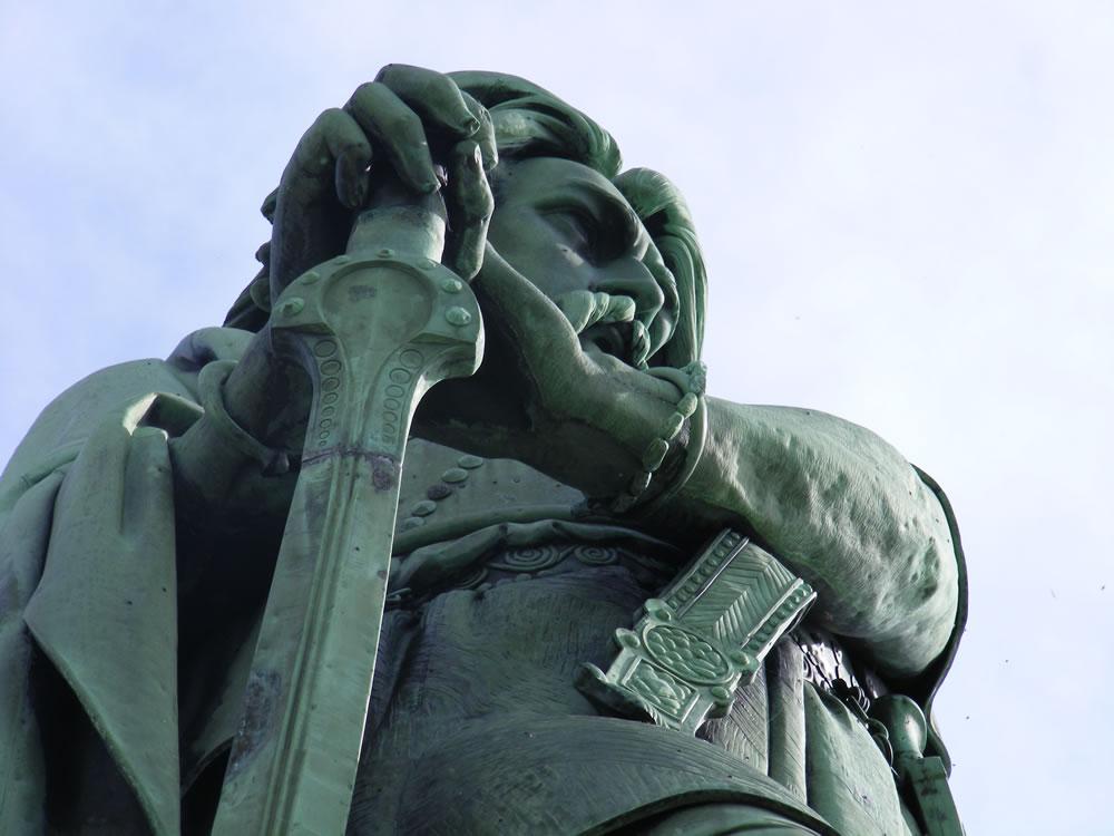 Vercingetorix der Arvernerführer und legendäre Held des gallischen Krieges gelang es, die bis dahin verfeindeten Stämme gallischen Völker zu vereinigen