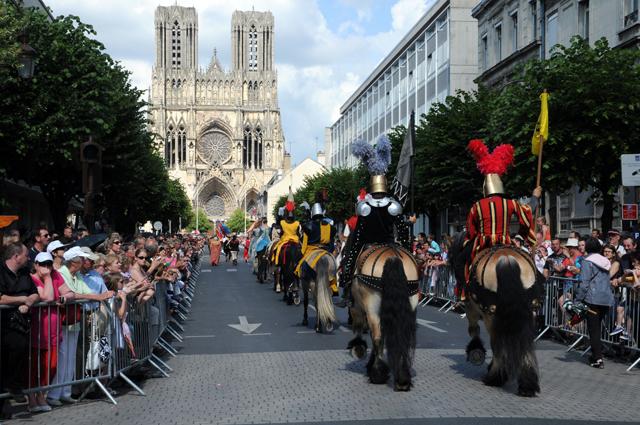 Les fêtes Johanniques, eine traditionelle Feier im Juni, zu ehren von Jeanne d'Arc.