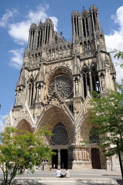 """Die Kathedrale """"Notre-Dame de Reims"""" zählt zum UNESCO Weltkulturerbe"""