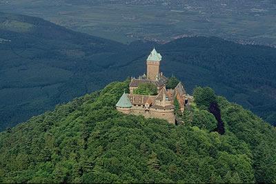 Das Château ist eine rekonstruierte Burg bei Orschwiller im Elsass