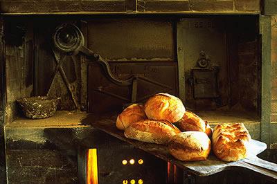 Frisch aus dem Backofen, leckeres französisches Brot und Brötchen. Das Backfrische Brot passt einfach zu allem.