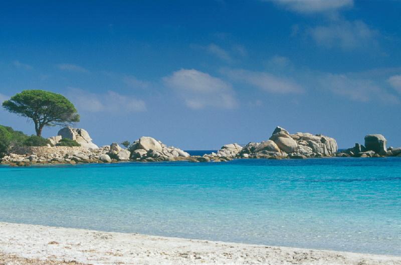 Der Strand von Tamaricciu: Plage deTamaricciu in der Näche von Porto-Vecchio (Palombaggia), Korsika.