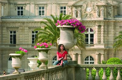 Im Pariser Quartier Latin befindet sich der 26 Hektar große und frühere königliche Schlosspark Jardin du Luxembourg