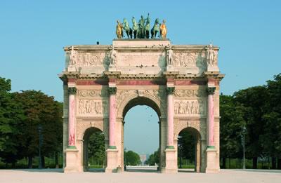 Der Schlosspark Jardin des Tuileries erstreckt sich vom Place de la Concorde bis zum Louvre.