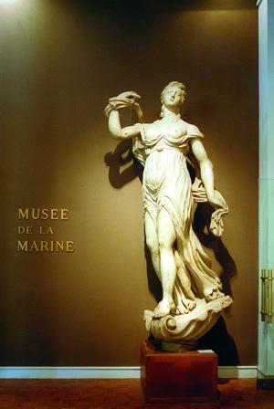 Das Marinemuseum Musée National de la Marine in Paris. Das Museum befindet sich im Palais de Chaillot.