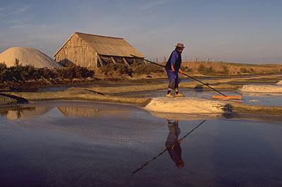 Marais Salants ist eine Naturstätte in den Pays de la Loire und ein beliebtes Ziel bei den Urlaubern