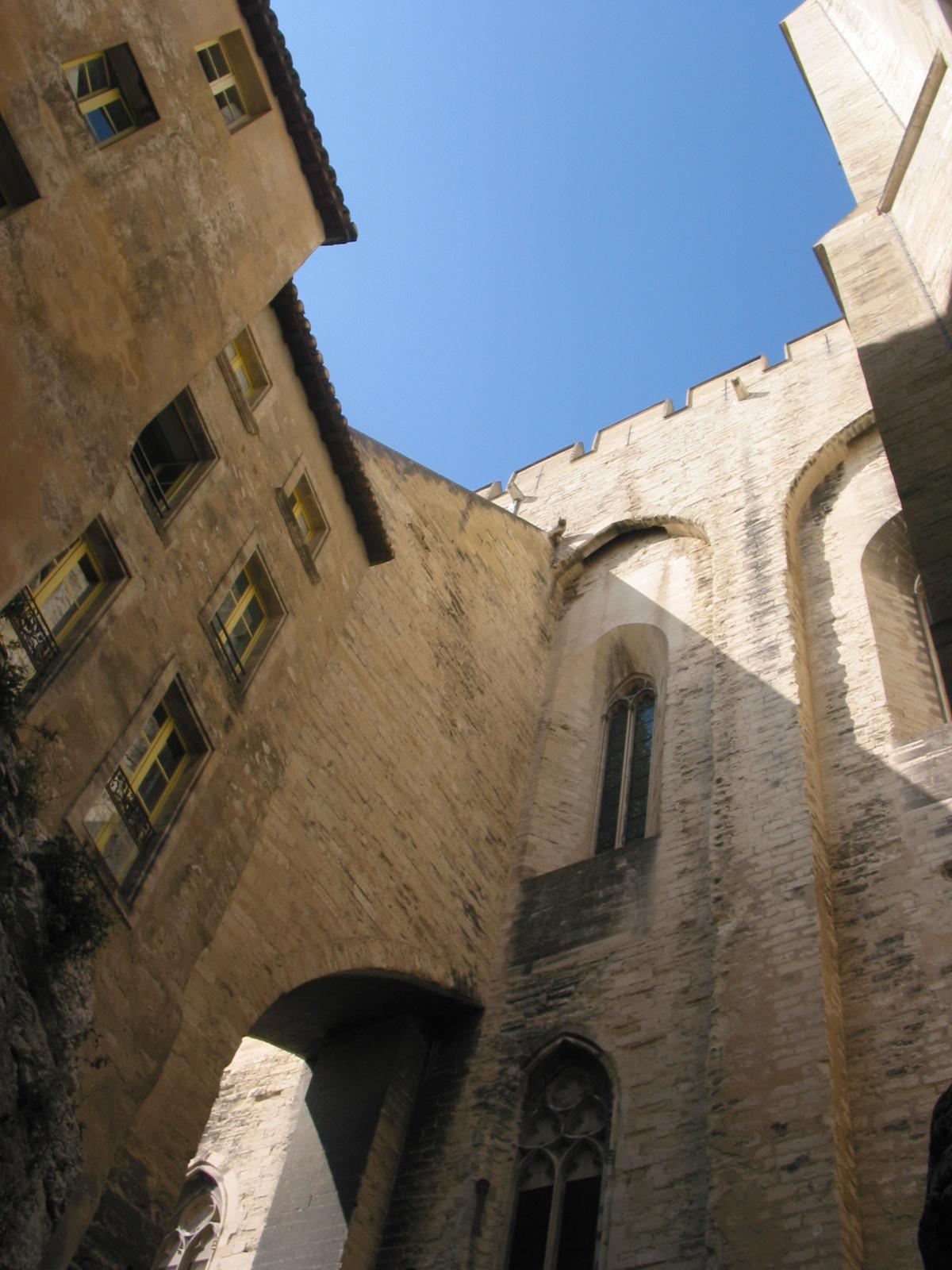 Schnappschuss in Avignon (Palais des papes)