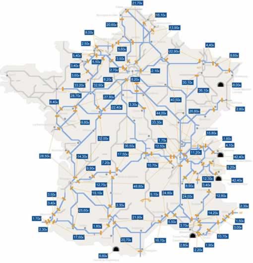Mautpflichtige Autobahnstrecken