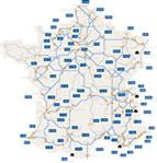 Karte Tankstellen in Frankreich