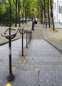 Die berühmten Treppen zum Montmartre