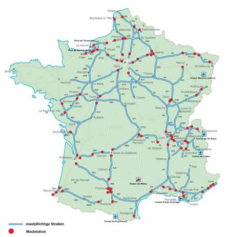 Mautstrecken in Frankreich