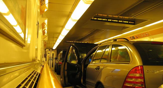 Eurotunnel von Frankreich nach England