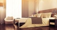 Gemütliches Hotelzimmer in Frankreich