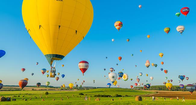 Heißluftballonfahrt über Lothringen