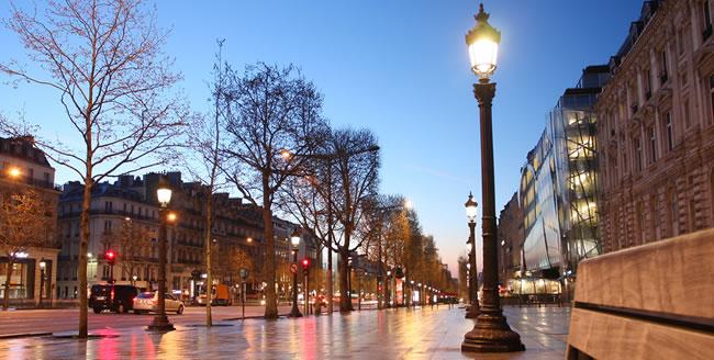 Die Champs-Elysées in Paris