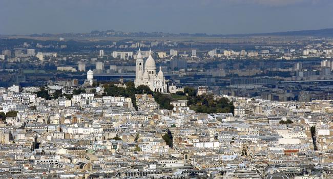 Der Hügel Montmartre in Paris