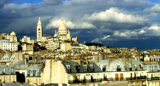 Die Kirche Sacré Coeur in Paris auf dem Montmarte
