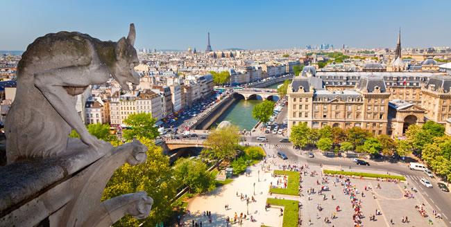 Blick von der Kathedrale Notre-Dame