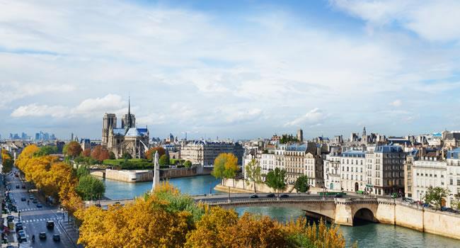 Blick auf Paris und seine Denkmäler