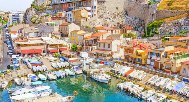 Fischerhafen Vallon des Auffes in Marseille