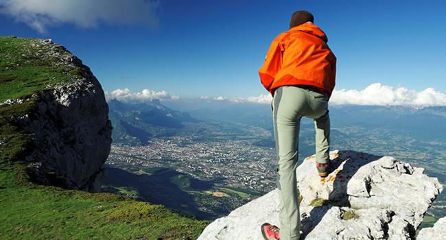 Blick auf die Stadt Grenoble in Rhône-Alpes