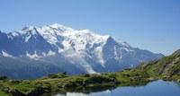 Das Skigebiet Chamonix mit Blick auf den Montblanc
