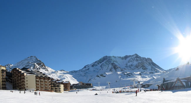 Skifahren im Skiort Val Thorens