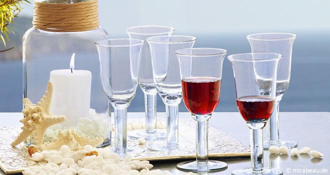 Mediterrane Weingläser aus Frankreich